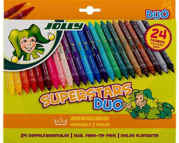 JOLLY Fasermaler SUPERSTARS DUO im 24er Pack