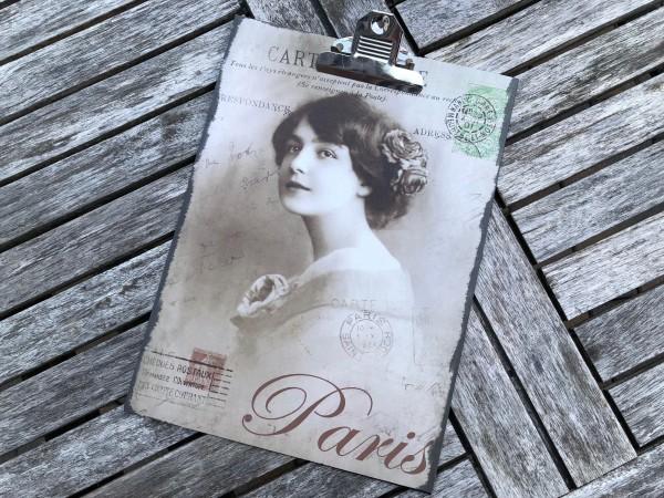 "Shabby-Klemmbrett ""Carte Postale PARIS"""