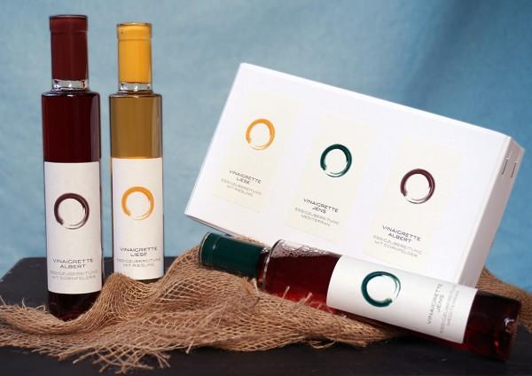 Geschenkset Vinaigrette mit 3 verschiedenen Vinaigretten zum Würzen