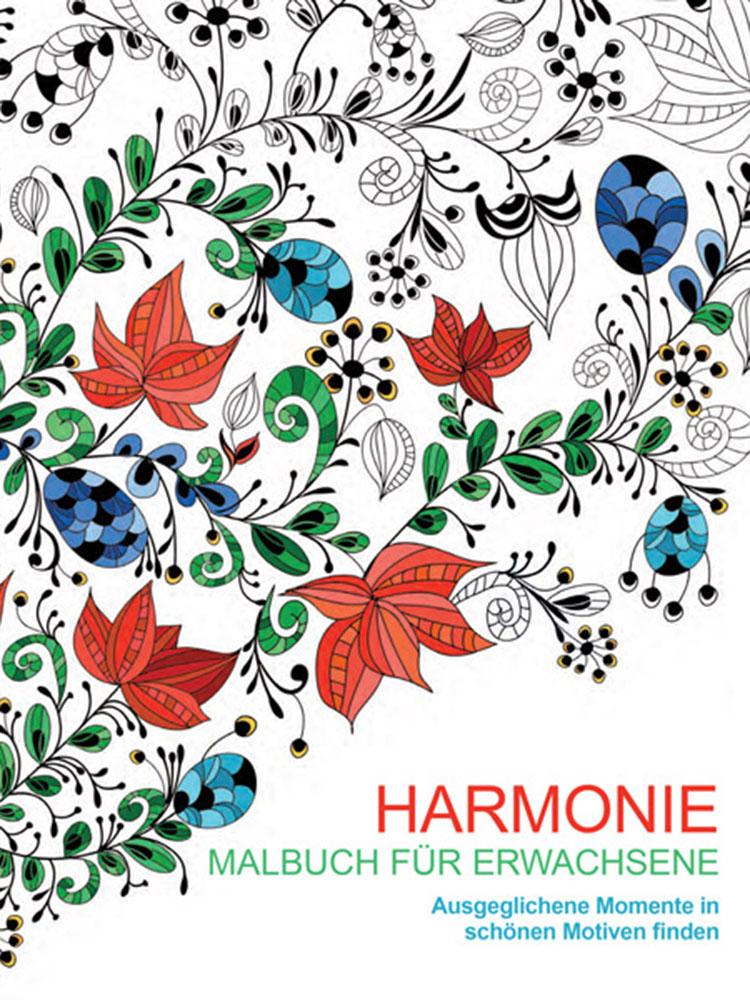 harmonie malbuch f r erwachsene entspannen mit malb chern f r erwachsene sein hanna. Black Bedroom Furniture Sets. Home Design Ideas