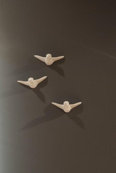 Beton Vogelschwarm - grau