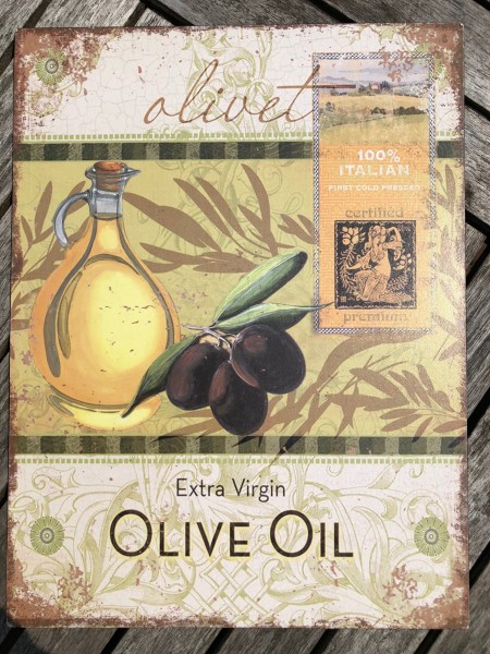 Metallschild OLIVET EXTRA VIRGIN OLIVE OIL