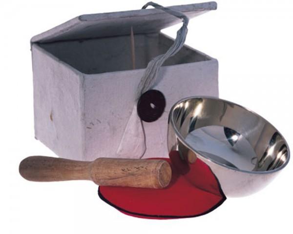 Klangschalen-Set mit Unterlage und Klöppel in einer Box